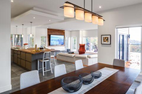 厨房餐桌现代风格装潢图片