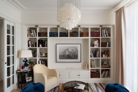 客厅博古架美式风格装饰图片