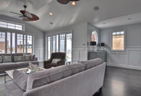 客厅地砖美式风格装修设计图片