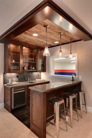 地下室橱柜美式风格装饰图片