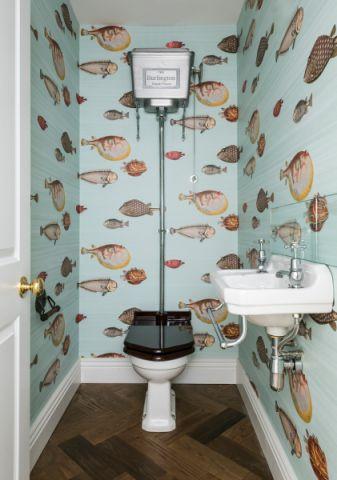卫生间地板砖美式风格装潢设计图片