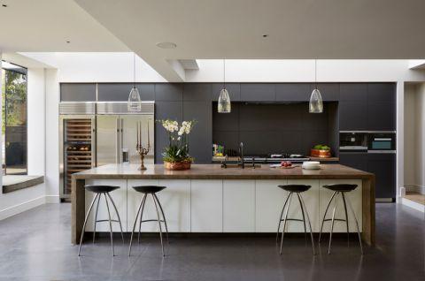 85平米一居室现代风格设计图