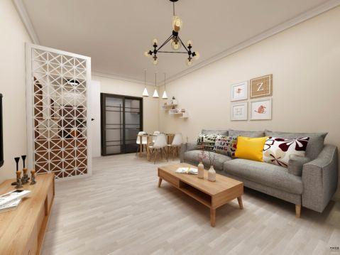 陶然庭苑80平米北欧风格三居室装修效果图