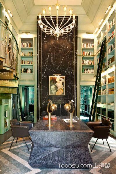 书房混搭风格效果图大全2017图片_土拨鼠完美时尚书房混搭风格装修设计效果图欣赏