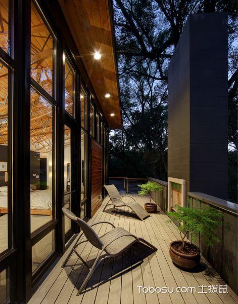 阳台米色走廊现代风格装潢设计图片
