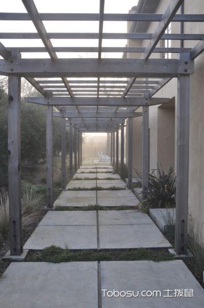 阳台灰色走廊现代风格装饰效果图
