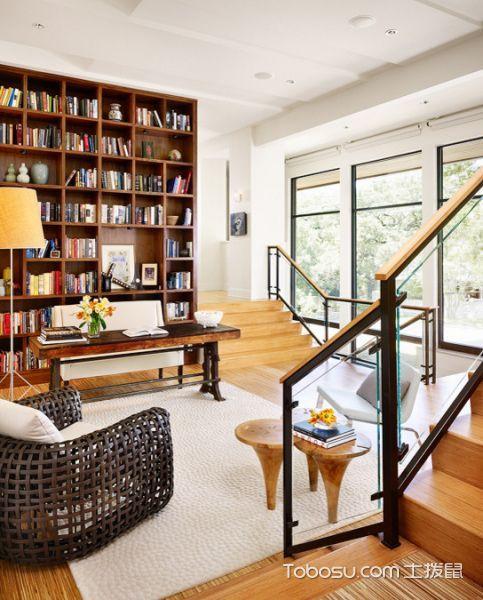 书房现代风格效果图大全2017图片_土拨鼠奢华清新书房现代风格装修设计效果图欣赏