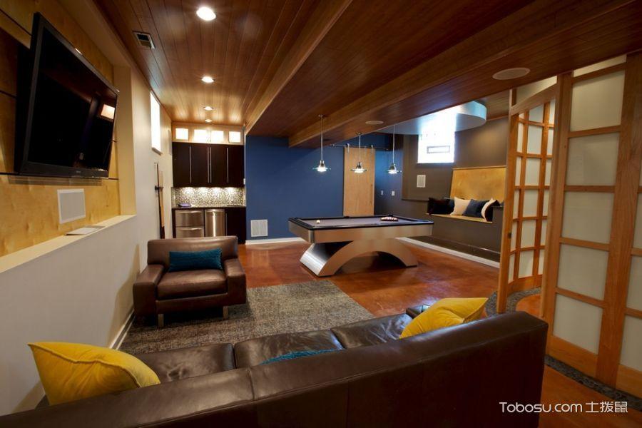 地下室黄色背景墙现代风格装饰设计图片