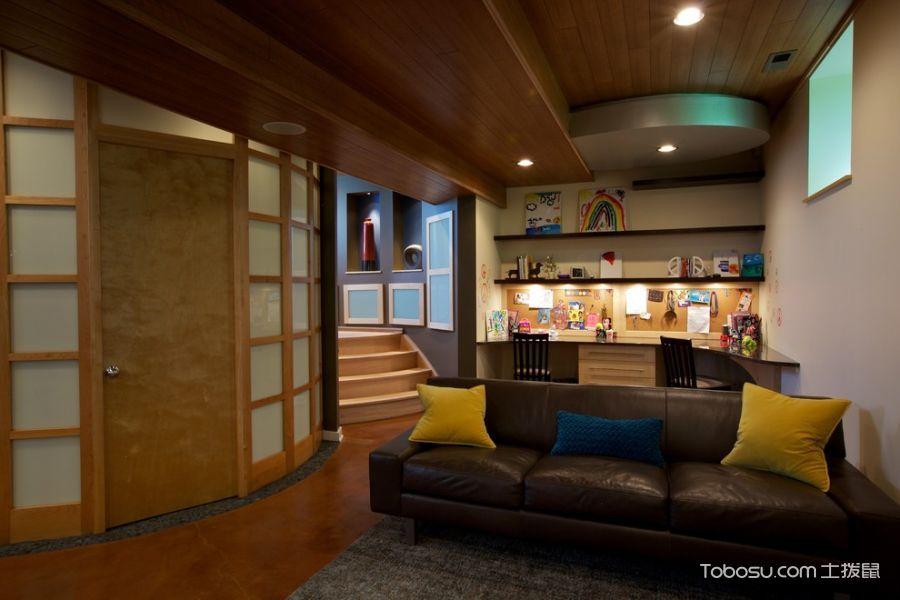 地下室黄色背景墙现代风格效果图