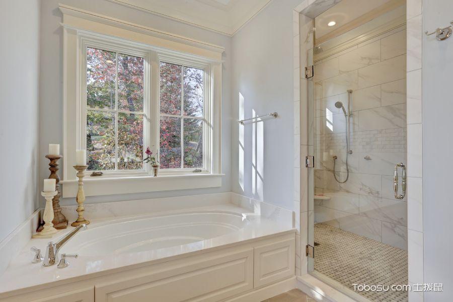 2018美式浴室设计图片 2018美式浴缸装修设计