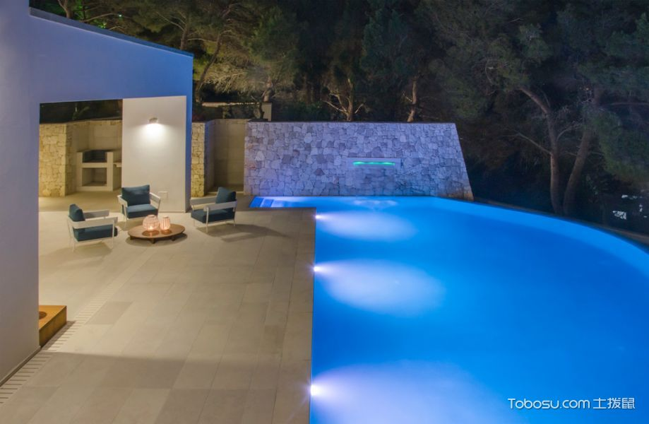 花园米色走廊地中海风格装修图片