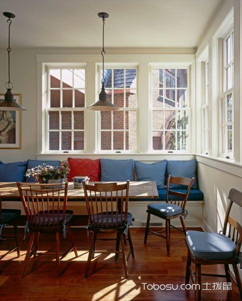 餐厅美式风格效果图大全2017图片_土拨鼠现代富丽餐厅美式风格装修设计效果图欣赏