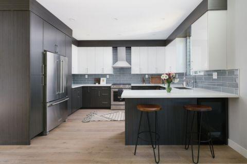 厨房现代风格效果图大全2017图片_土拨鼠文艺清新厨房现代风格装修设计效果图欣赏