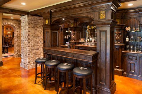 酒窖吧台美式风格装修设计图片
