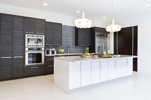 厨房现代风格效果图大全2017图片_土拨鼠极致质朴厨房现代风格装修设计效果图欣赏