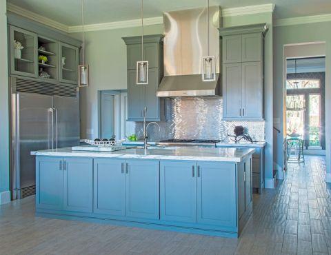 厨房现代风格效果图大全2017图片_土拨鼠干净摩登厨房现代风格装修设计效果图欣赏