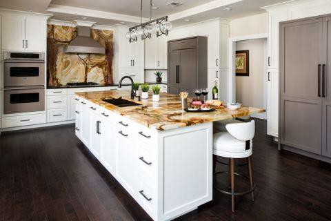 厨房现代风格效果图大全2017图片_土拨鼠个性唯美厨房现代风格装修设计效果图欣赏