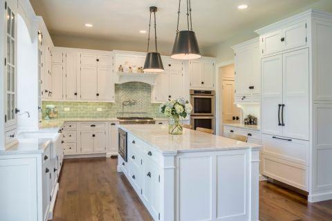 厨房背景墙美式风格装修效果图