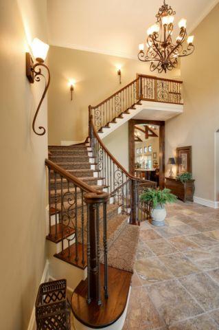 楼梯美式风格装修效果图