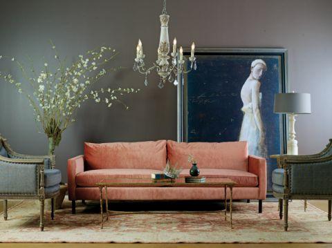 客厅背景墙混搭风格装饰图片