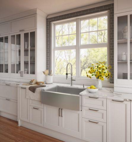 厨房现代风格效果图大全2017图片_土拨鼠干净迷人厨房现代风格装修设计效果图欣赏