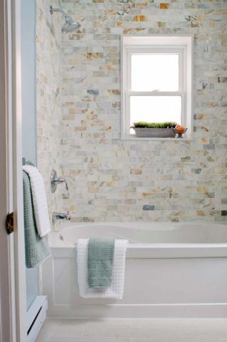 浴室美式风格装潢图片