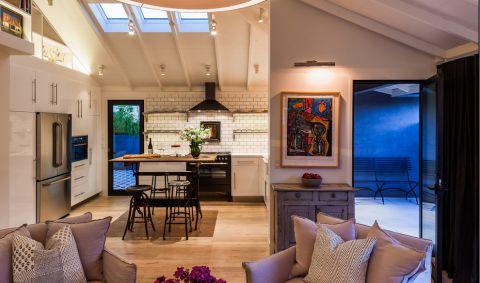 厨房混搭风格效果图大全2017图片_土拨鼠豪华优雅厨房混搭风格装修设计效果图欣赏