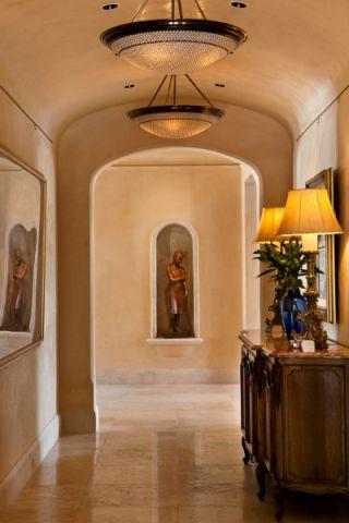 玄关背景墙地中海风格装修效果图