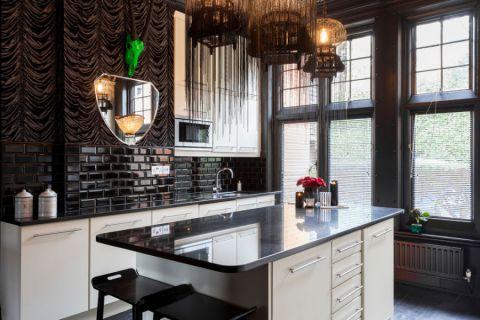 美式开放式厨房厨房岛台装修设计