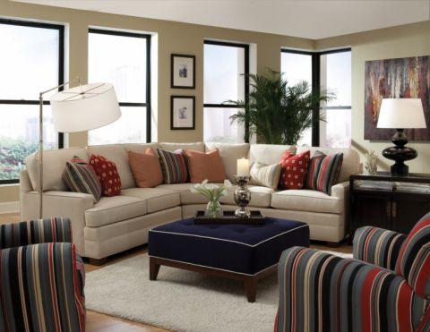 现代客厅沙发装修实景图