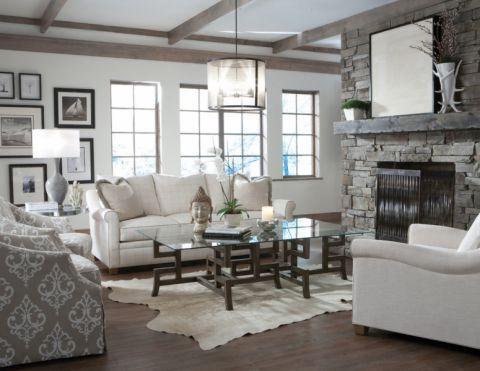 清新素丽客厅沙发案例图片