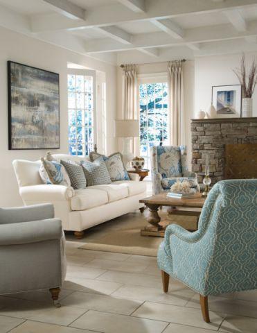 清新素丽客厅现代装饰设计