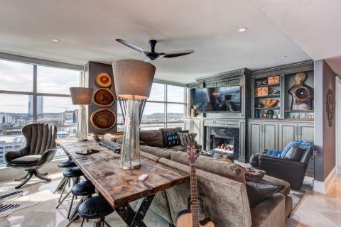 客厅现代风格效果图大全2017图片_土拨鼠美感创意客厅现代风格装修设计效果图欣赏