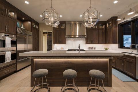 厨房现代风格效果图大全2017图片_土拨鼠干净创意厨房现代风格装修设计效果图欣赏