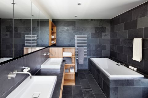浴室现代风格效果图大全2017图片_土拨鼠优雅摩登浴室现代风格装修设计效果图欣赏