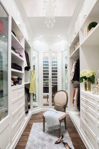 衣帽间背景墙美式风格装潢设计图片