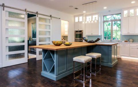 厨房美式风格效果图大全2017图片_土拨鼠潮流风雅厨房美式风格装修设计效果图欣赏