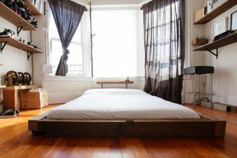 卧室混搭风格效果图大全2017图片_土拨鼠温暖纯净卧室混搭风格装修设计效果图欣赏