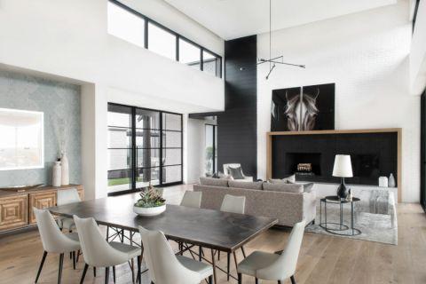 客厅现代风格效果图大全2017图片_土拨鼠古朴优雅客厅现代风格装修设计效果图欣赏