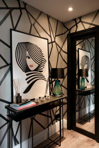 玄关背景墙混搭风格装潢效果图