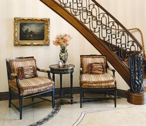 楼梯美式风格装饰效果图
