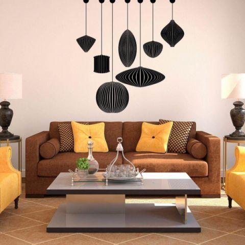 客厅背景墙混搭风格效果图