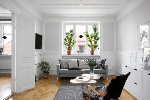 客厅北欧风格效果图大全2017图片_土拨鼠个性清新客厅北欧风格装修设计效果图欣赏