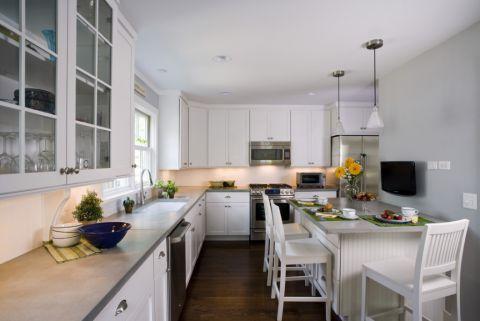 厨房美式风格效果图大全2017图片_土拨鼠美好舒适厨房美式风格装修设计效果图欣赏