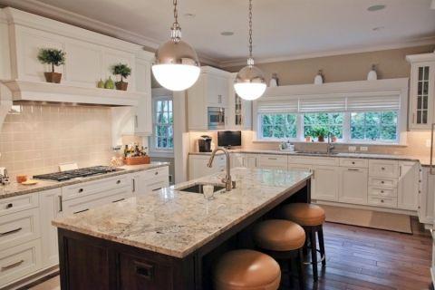 厨房美式风格效果图大全2017图片_土拨鼠完美写意厨房美式风格装修设计效果图欣赏
