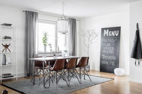 餐厅北欧风格效果图大全2017图片_土拨鼠简洁淡雅餐厅北欧风格装修设计效果图欣赏