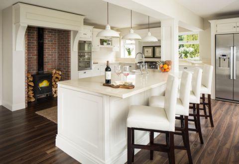 厨房美式风格效果图大全2017图片_土拨鼠豪华温馨厨房美式风格装修设计效果图欣赏