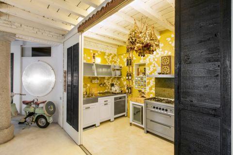厨房混搭风格效果图大全2017图片_土拨鼠美好风雅厨房混搭风格装修设计效果图欣赏