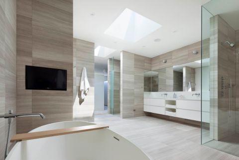 浴室现代风格效果图大全2017图片_土拨鼠潮流沉稳浴室现代风格装修设计效果图欣赏