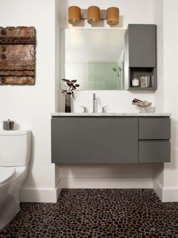 浴室现代风格效果图大全2017图片_土拨鼠浪漫格调浴室现代风格装修设计效果图欣赏